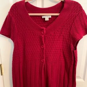 Christopher and Banks short sleeve sweater